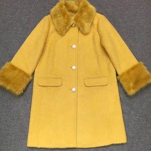 Kate Spade Jackets & Coats - New Kate Spade Fluffy wool faux fur yellow coat